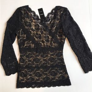 BEBE lace blouse NWT